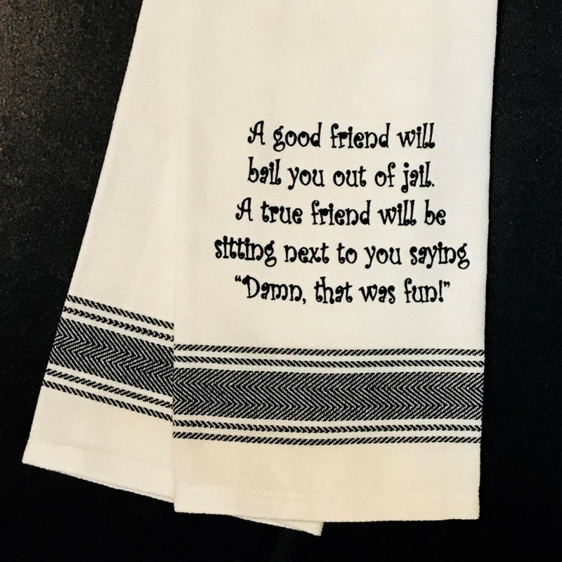 Good Friends Tea Towel